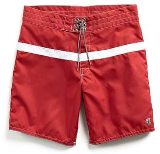 Todd Snyder Birdwell Beach Britches for Exclusive Birdwell 311 Board Shorts in Red Surf Stripe