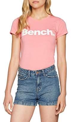 Bench Women's Slim Logo Tee T-Shirt, (Black Beauty Bk11179)