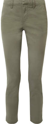 J Brand Clara Cotton-blend Twill Slim-leg Pants