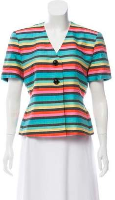 Christian Dior Striped Silk Jacket
