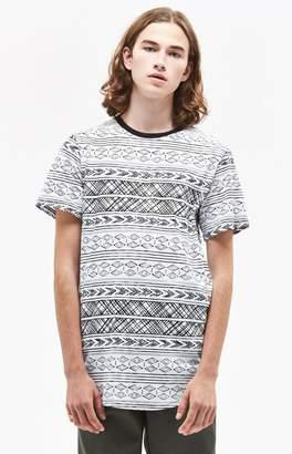 PacSun Aergol Printed Scallop T-Shirt