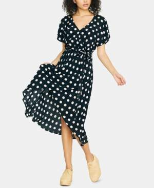 Sanctuary Faux-Wrap Midi Dress