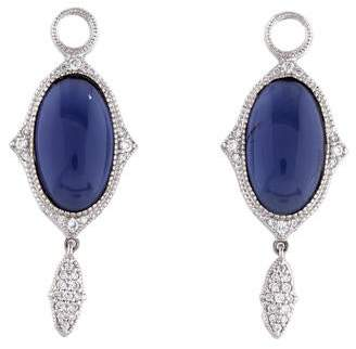 Jude Frances 18K Iolite & Diamond Earring Enhancers
