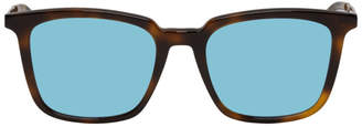 McQ Tortoiseshell and Blue MQ0070s Sunglasses