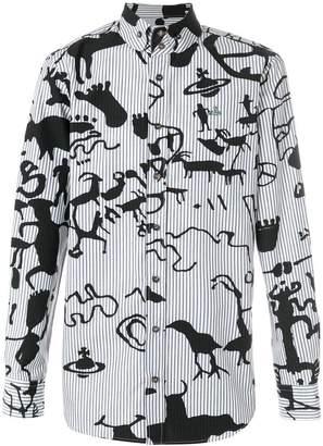 Vivienne Westwood printed button shirt