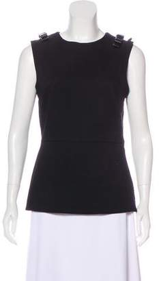 Fendi Leather-Accented Sleeveless Top w/ Tags
