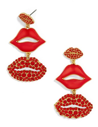 Pucker Up Drop Earrings $36 thestylecure.com