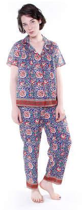La Cera Plus-Size Short Sleeve Striped PJs - Plus