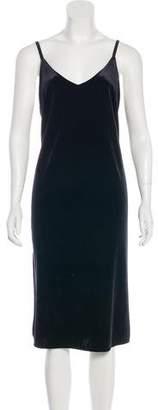 Sanctuary Sleeveless Velvet Midi Dress