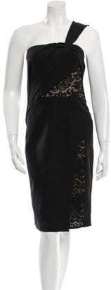 J. Mendel Silk Lace Inset Dress w/ Tags Black Silk Lace Inset Dress w/ Tags