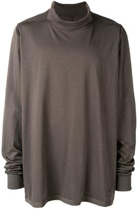 Rick Owens funnel-neck long sleeve top