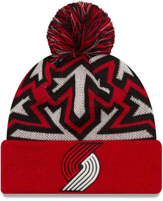 New Era Portland Trail Blazers Glowflake Cuff Knit Hat