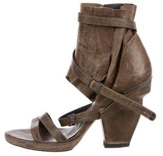 Ld Tuttle Distressed Wrap-Around Sandals
