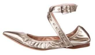 Valentino Love Latch Metallic Flats