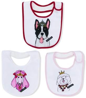 Dolce & Gabbana Dogs print bib set