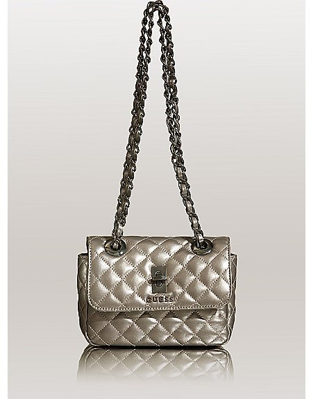 GUESS Quilted Leather Mini Bag
