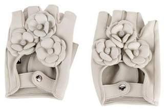 Chanel Camellia Fingerless Gloves