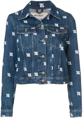 Misbhv embroidered monogram denim jacket