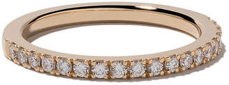 De Beers 18kt yellow gold DB Classic Half Pavé diamond band