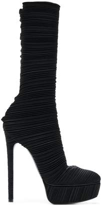 Casadei pleated platform boots