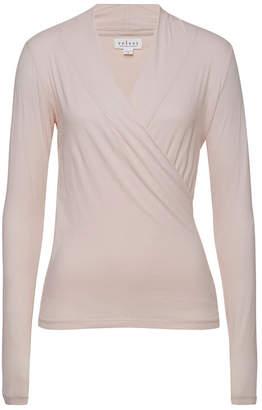 Velvet Meri Draped Cotton Top