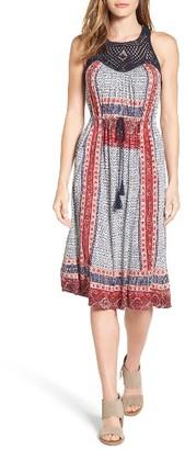 Women's Lucky Brand Crochet Yoke Knit Dress $99 thestylecure.com