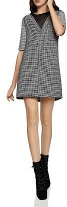 BCBGeneration Chiffon-Inset Windowpane Dress