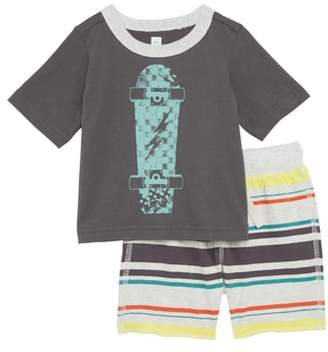 Tea Collection Skateboard T-Shirt & Shorts Set
