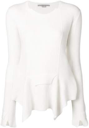 Stella McCartney ribbed handkerchief hem sweater