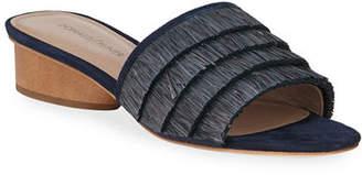 Donald J Pliner Reise Raffia Fringe Low Slide Sandals