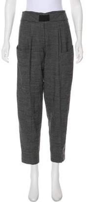 Thakoon Wool High-Rise Straight-Leg Pants