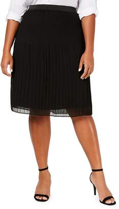 INC International Concepts Plus Plus-Size Pleated Skirt