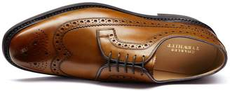 Charles Tyrwhitt Tan Goodyear Welted Derby Brogue Shoe Size 11