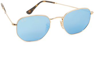 Ray-Ban Octagon Mirrored Sunglasses $175 thestylecure.com