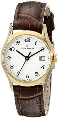 Claude Bernard Women's 54003 37J BB Classic Ladies Analog Display Swiss Quartz Brown Watch