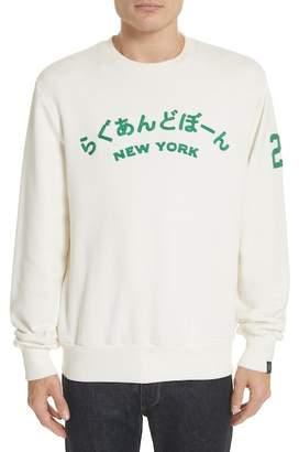 Rag & Bone Japan Embroidered Crewneck Sweatshirt