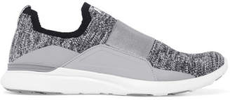 APL Athletic Propulsion Labs Techloom Bliss Mesh And Satin Slip-on Sneakers - Gray