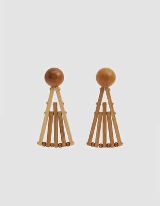 Cult Gaia Fan Drop Earrings