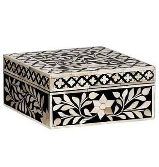 Mela Artisans Imperial Beauty Square Box in Black & White