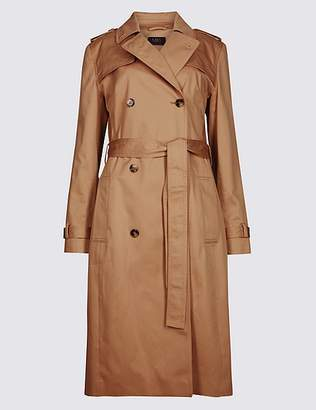 Marks and Spencer Pure Cotton Longline Trench with StormwearTM