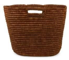 Straw Studios Open-Top Woven Basket Bag