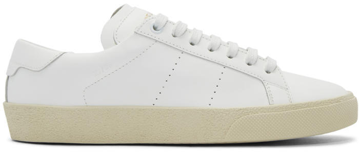 Saint Laurent White Court Classic SL-06 Sneakers