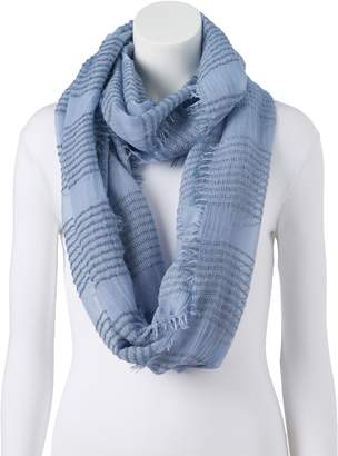 Lauren Conrad Women's Striped Boucle Infinity Scarf