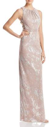 Adrianna Papell Metallic Halter Gown - 100% Exclusive
