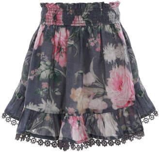 Zimmermann Iris Shirred Skirt