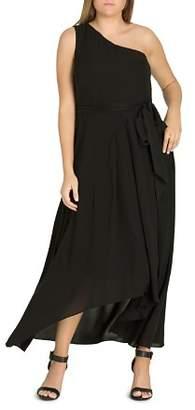 City Chic Plus One Love One-Shoulder Maxi Dress