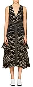 Proenza Schouler Women's Floral Cady Midi-Dress - Black, Tan