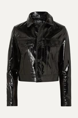 Ksubi A2b Textured Patent-leather Jacket - Black