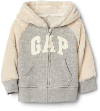 Gap Cozy logo raglan zip hoodie