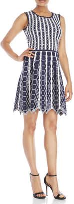 pink tartan Hexagon Fit & Flare Knit Dress $425 thestylecure.com